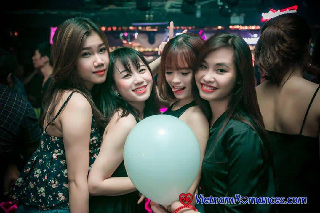 random selection of vietnam girls at party
